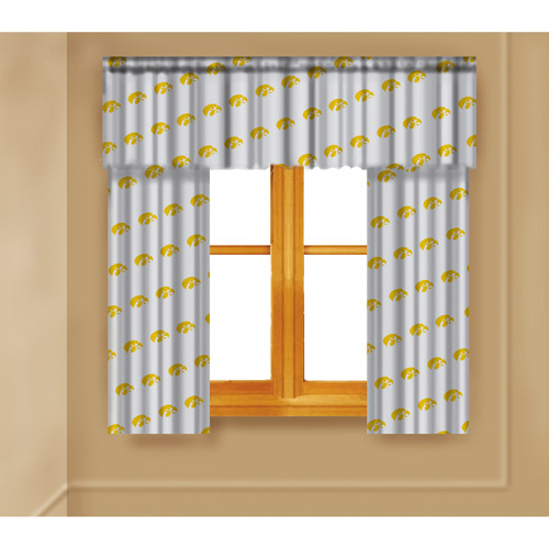 NCAA Iowa Hawkeyes Window Curtain Panels