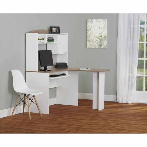 L Shaped Desk With Hutch Black