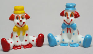 2 pack Clowns Asst. 2 Styles Cake Adornments (2 inches)