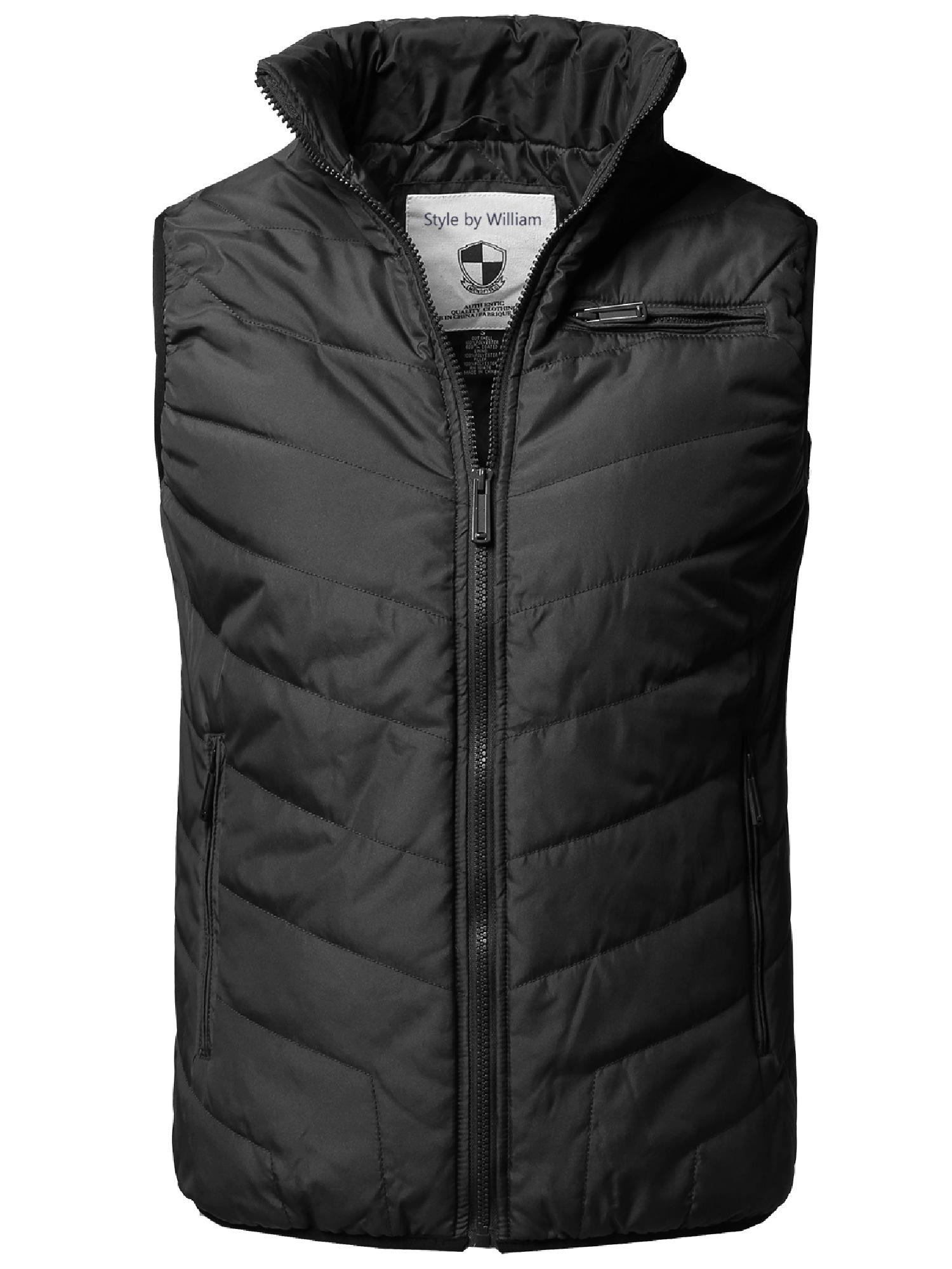 694ad5f10a76a FashionOutfit - FashionOutfit Men s Solid Front Zip Up Outdoor Comfortable  Padded Vest Outwear Jacket - Walmart.com