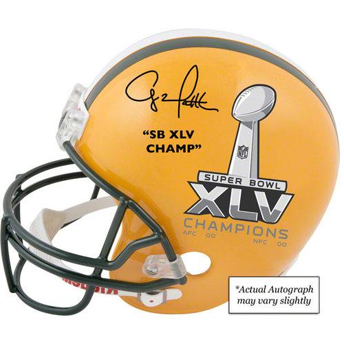 NFL - Clay Matthews Autographed Replica Helmet | Details: Green Bay Packers, Super Bowl XLV Champions Logo, Half and Half, SB XLV Champ Inscription