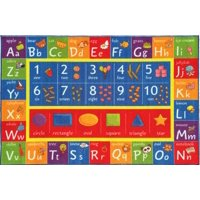 KC Cubs Playtime Collection ABC Numbers and Shapes Educational Polypropylene Area Rug (3'3 x 4'7)