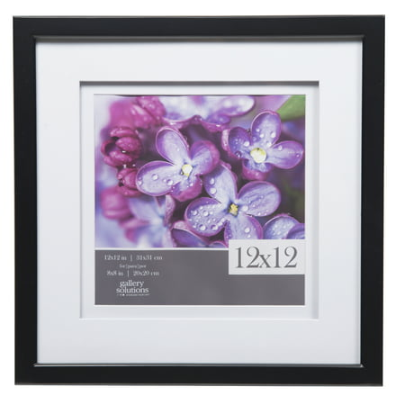 Gallery Solutions 12x12 Black Frame, Double Matted to covid 19 (Double Framed Photograph coronavirus)