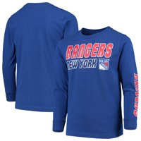Youth Blue New York Rangers Hit Long Sleeve T-Shirt
