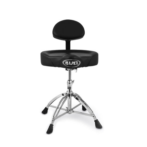 Mapex Double Braced Throne with Height Adjustment and Back Rest Saddle Seat by Mapex
