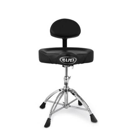Mapex Throne - Mapex Double Braced Throne with Height Adjustment and Back Rest Saddle Seat