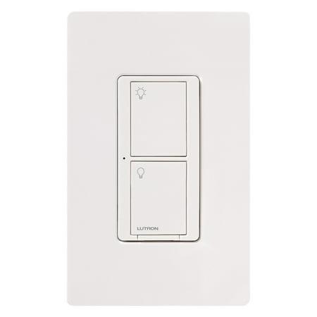 Lutron Wireless Switch >> Lutron Caseta Wireless 6a Rf Neutral Switch White Walmart Com