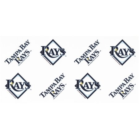 Tampa Bay Rays™ Peel & Stick Tattoos 8 pc Pack (Baseball Tattoos)