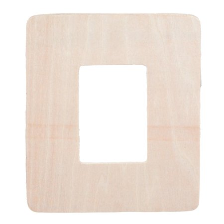 Darice Simple Wooden Frame Shape: Unfinished, 3mm Thick, 5 x 6