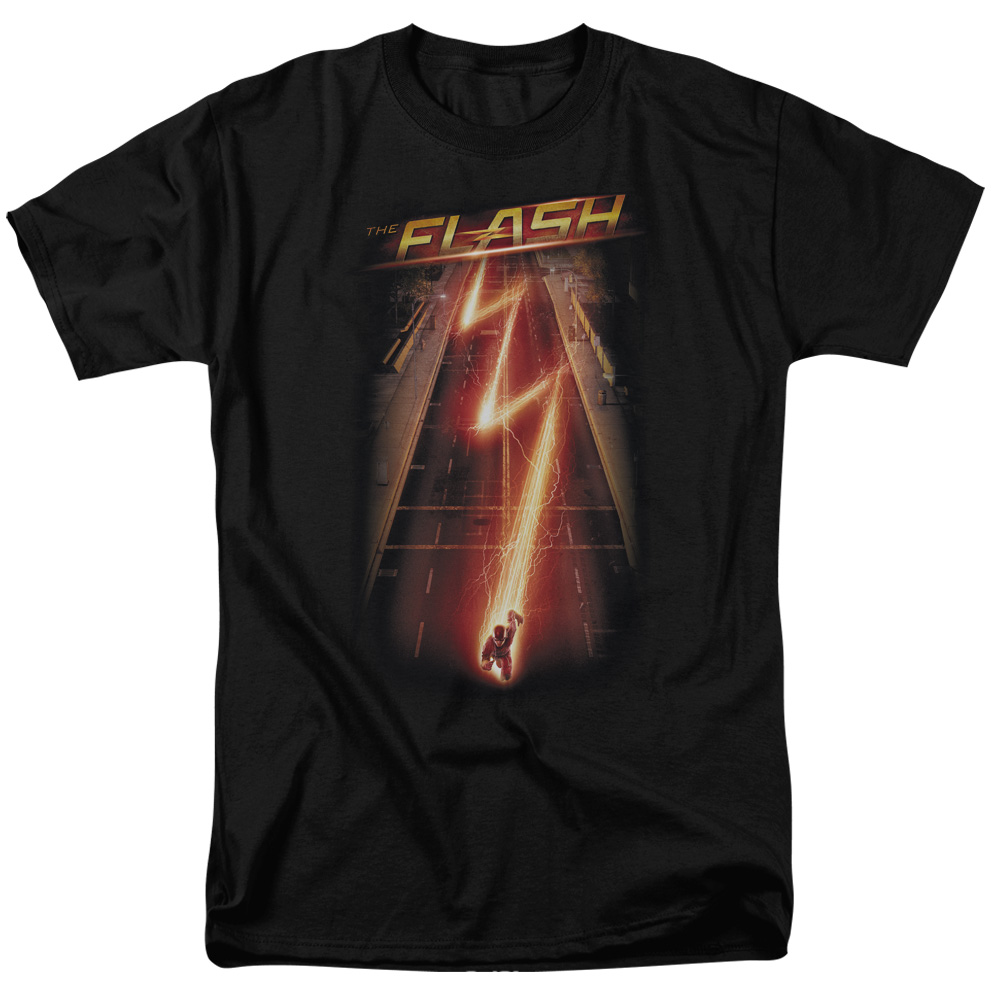 The Flash/Flash Ave S/S Adult 18/1 Black   Flsh108