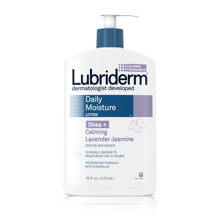 Lubriderm Daily Moisture Dry Skin Lotion  Shea   Calming Lavender Jasmine  16 Fl  Oz