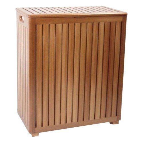 Redmon Genuine Teak Jumbo Hamper with Removable Laundry Bag