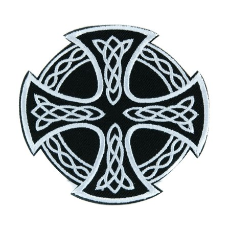 Sons Of Anarchy Patches (Celtic Iron Cross Patch Iron on Applique Alternative Clothing Sons of)
