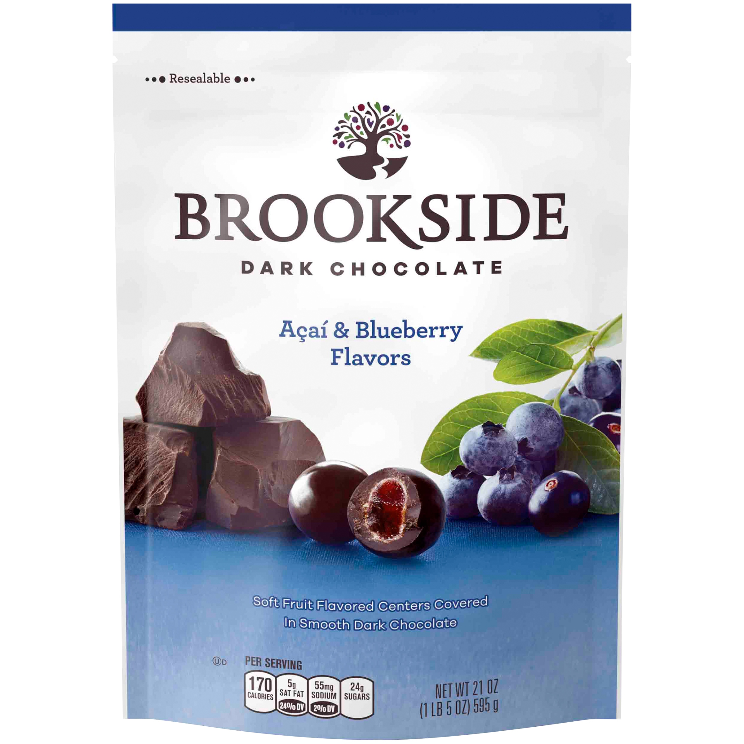Brookside, Acai & Blueberry Dark Chocolate Candy, 21 Oz