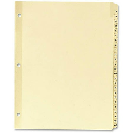 - Sparco A-Z Clear Plastic Index Dividers
