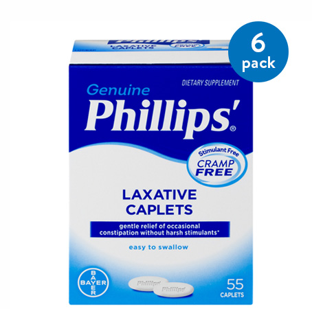 Phillips' Laxative Dietary Supplement Caplets, 55 Count
