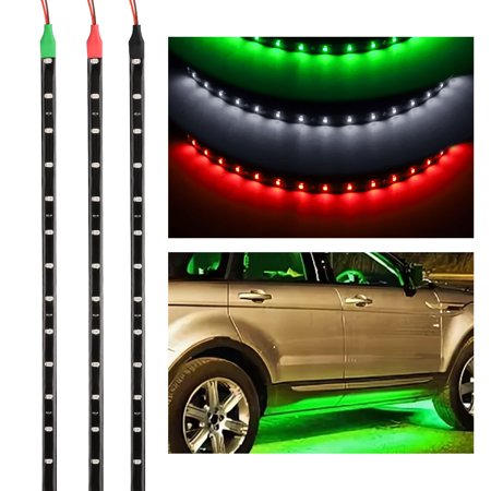 LED Strip Lights, EEEkit 11.8inch 12 LED Flexible Waterproof Light Strip for Car Interior & Exterior Decoration DRL Day Running Light Or Boat Bus Garden Home Party ()