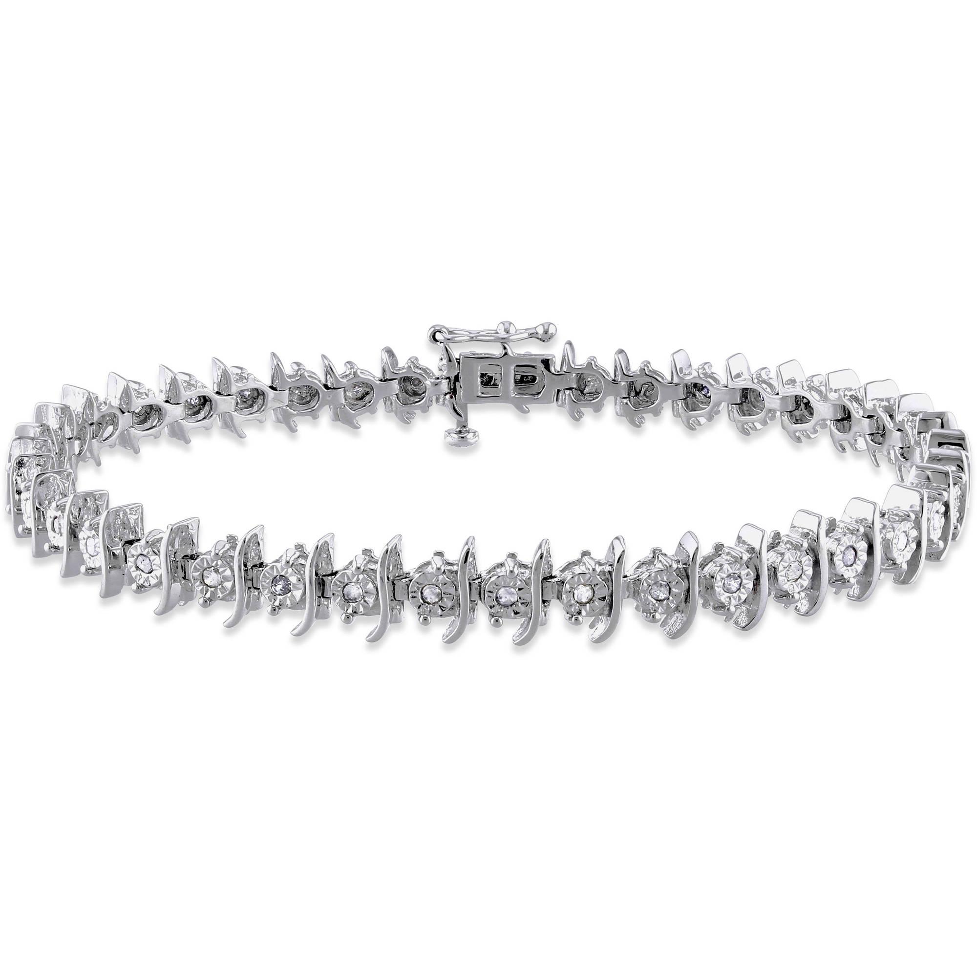 Miabella 1/2 Carat T.W. Diamond Sterling Silver Tennis Bracelet, 7.25