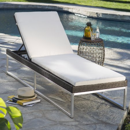 Belham Living Serenity All-Weather Wicker Chaise Lounge with Cushion