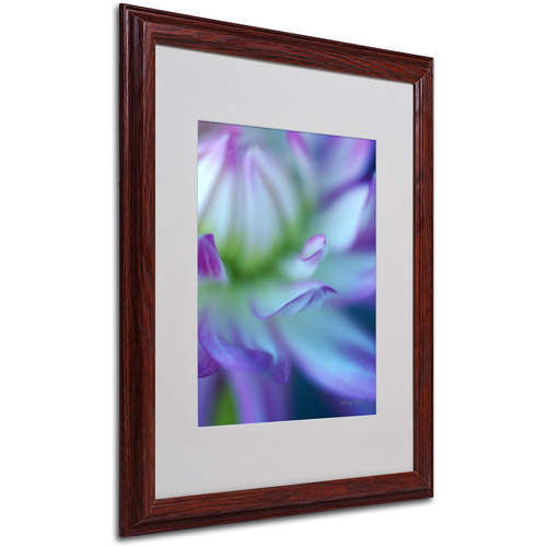 Trademark Fine Art 'The Color Purple' Matted Framed Art by Kathy Yates