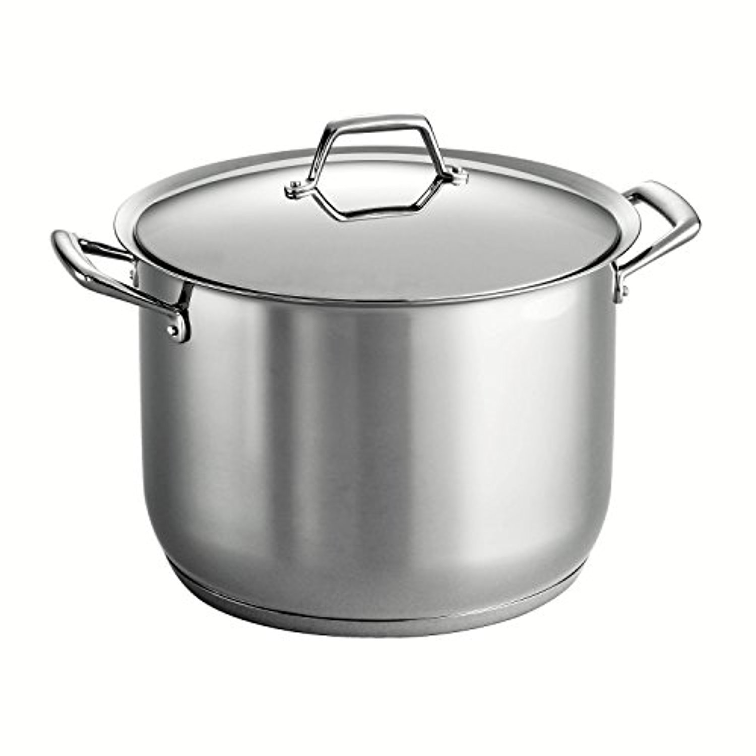 Tramontina Gourmet Prima 18/10 Stainless Steel Tri-Ply Base Covered Stock Pot, 16-Quart