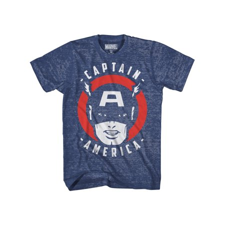 Unisex Adult Captain America Throwback Comic T-Shirt - Short Sleeves (Captain America Long Sleeve)