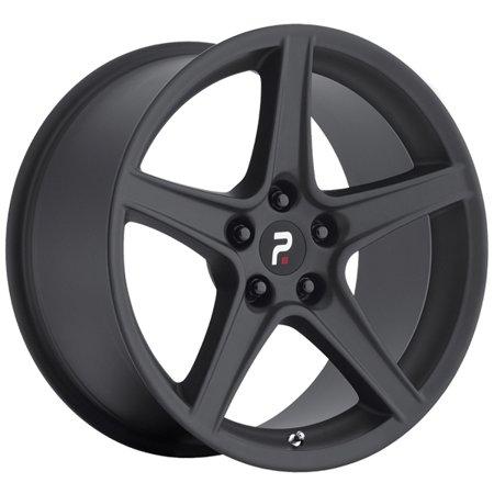 18 Inch Replica 110MB Mustang Saleen 18x9 5x114.3 +30 Matte Black Wheel Rim Black Chrome Mustang Wheels