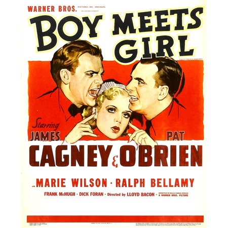 Boys From Grease (Boy Meets Girl From Left James Cagney Marie Wilson Pat OBrien 1938 Movie Poster)