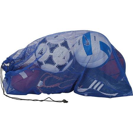 Mesh Ball/Laundry Bag (Royal, 24 x 36), Drawstring, cord lock and name tag By Champro from
