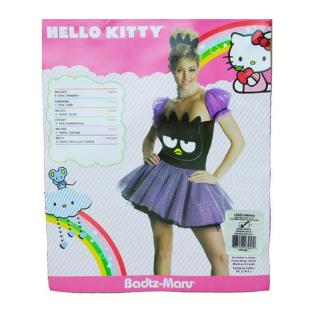 Hello Kitty Costume For Girls (Rubies Women's Badtz-Maru Hello Kitty Adult Costume Costumes -)