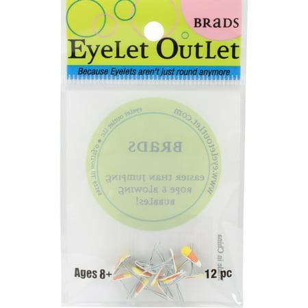 Eyelet Outlet Shape Brads 12/Pkg-Candy Corn - image 1 de 1