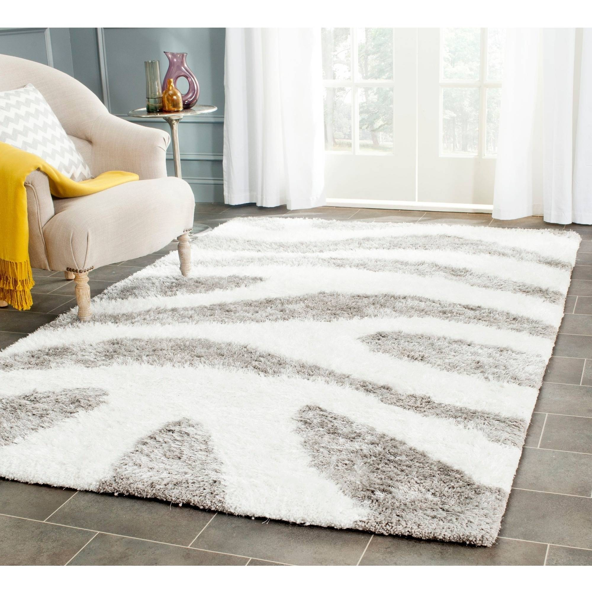 Safavieh Barcelona Calanthia Abstract Shag Area Rug or Runner