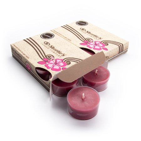 Mulberry Tealight Candles Multi Pack (12 Dark Red Highly Scented Tea Lights) - Made With Natural Oils - Clear Cup for Beautiful Candlelight - Christmas & Holiday Collection (Mulberry Home Collection Halloween)