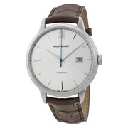Montblanc Meisterstuck Heritage Automatic Silver Dial Brown Leather Mens Watch 111580