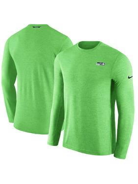 9c8aeab3 Product Image Seattle Seahawks Nike Sideline Coaches Primary Logo Long  Sleeve Performance T-Shirt - Neon Green