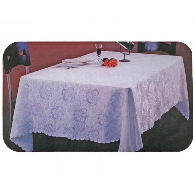 Home Products TABLECLOTH-D-90 60 inch x 90 inch Damask Jacquard Tablecloth