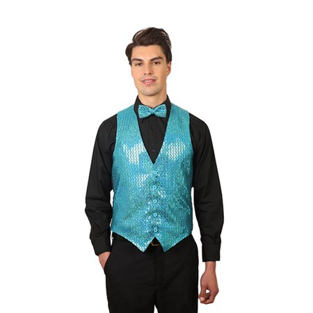Men's Sequin Vest - Purple Aladdin Vest
