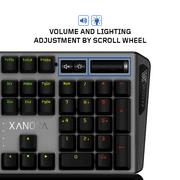 XANOVA MAGNETAR RGB Mechanical Keyboard, Gaming Keyboard with Blue Switch,  104 Keys 100% Anti-ghosting for PC, Laptop