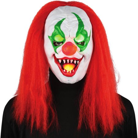light up eyes sinister clown mask halloween accessory