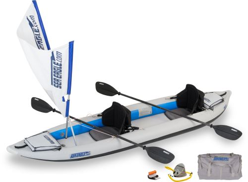 Click here to buy Sea Eagle 385FT FastTrack Inflatable Kayak QuikSail Package by Sea Eagle Boats, Inc..
