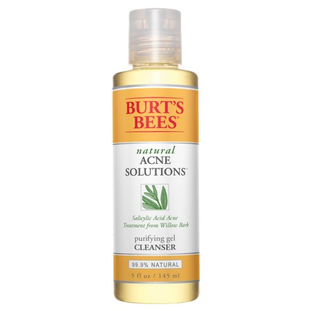 Burt's Bees Natural Acne Solutions  Purifying Gel Cleanser, Face Wash for Oily Skin, 5 (Best Solution For Pigmentation)
