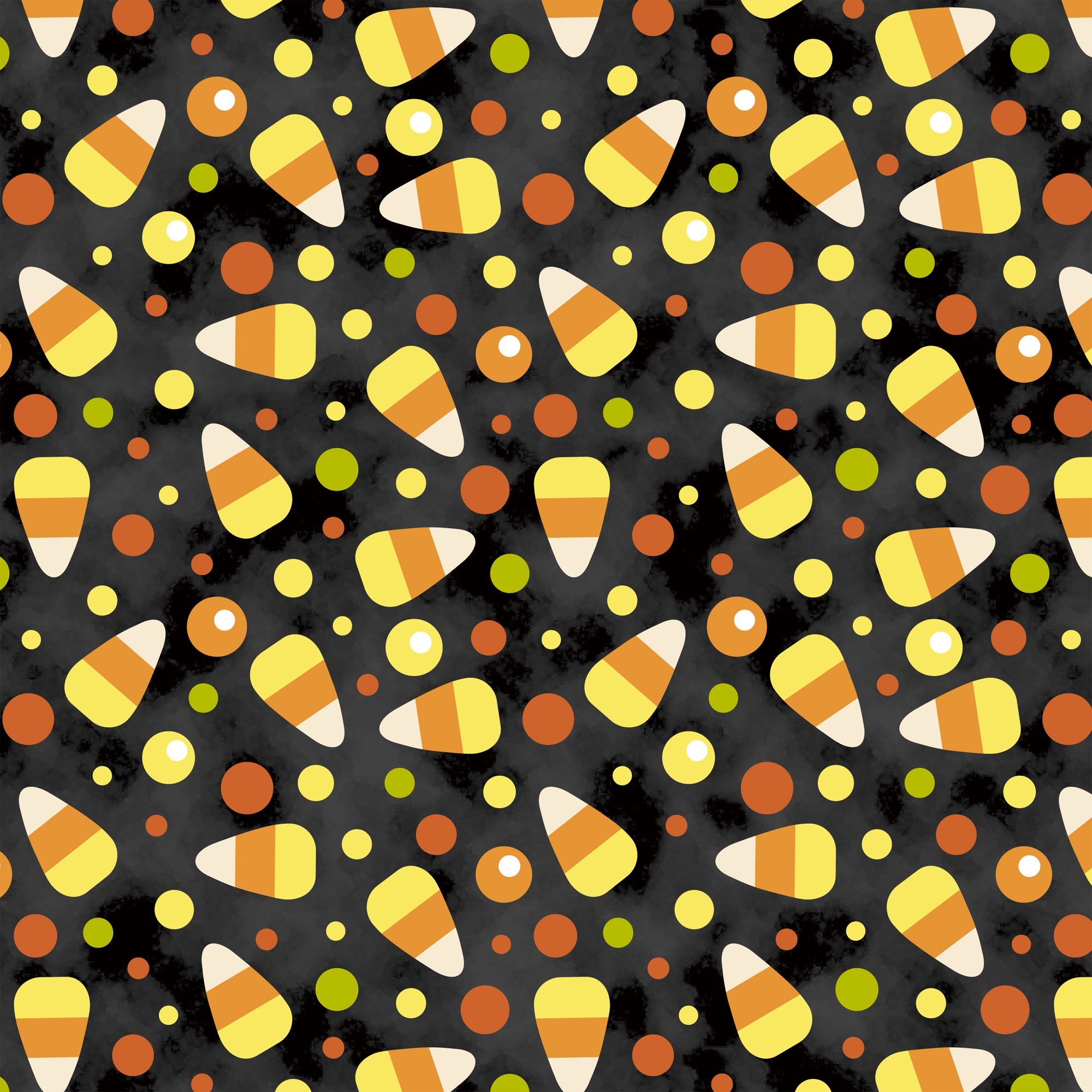 DAVID TEXTILES CANDY CORN TOSS 1 YD. CUT COTTON FABRIC