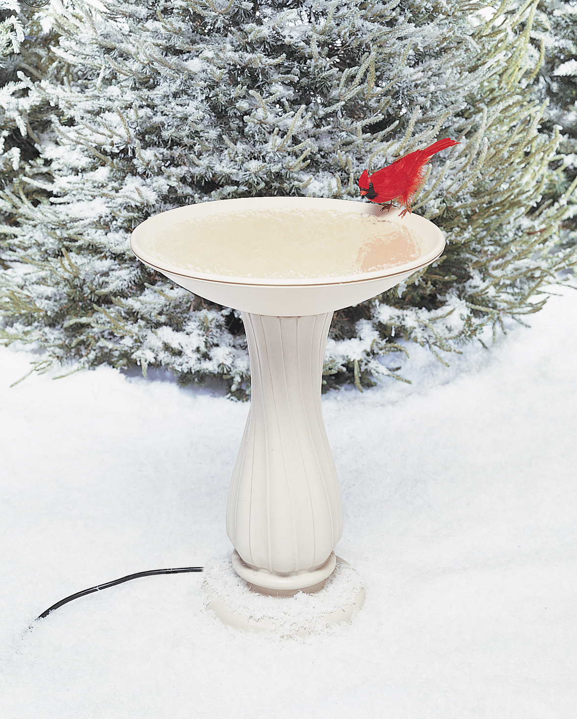 "Allied Precision 20"" Heated Birdbath with Pedestal by Allied Precision Industries"