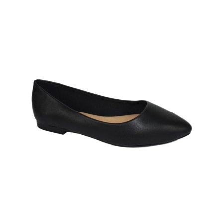 City Adventure Casual Oxford - Hold Black PU City Classified Women Casual Wide Width Fit Flat Office Shoes Pointy Toe 9