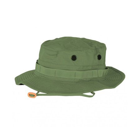 Propper Cotton Military Tactical Boonie Hat w/Adjustable Chin Strap & Vent Holes (Tactical Hat With Patch)