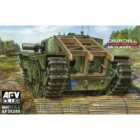 AFV35288 1:35 AFV Club Churchill Mk.IV AVRE with Fascine Carrier Frame [MODEL BUILDING KIT]