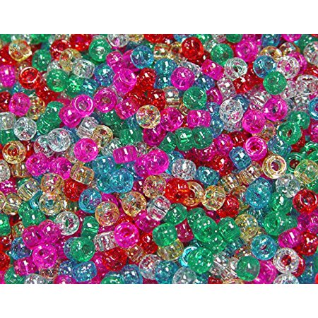 Bead Craft Storage (JOLLY STORE Crafts Sparkle Multi 6.5x4mm Mini Pony Beads, Made in USA, 1000pcs )