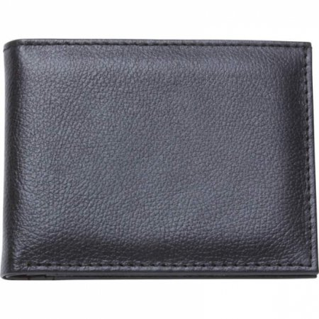- Mens Solid Genuine Buffalo Leather Bi-fold Wallet- Fold Wallet