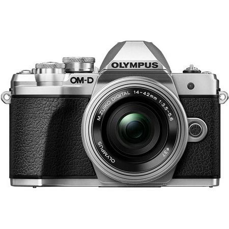 Olympus OM-D E-M10 Mark III Mirrorless Digital Camera [with 14-42mm EZ Lens] International Version - No Warranty (Silver)