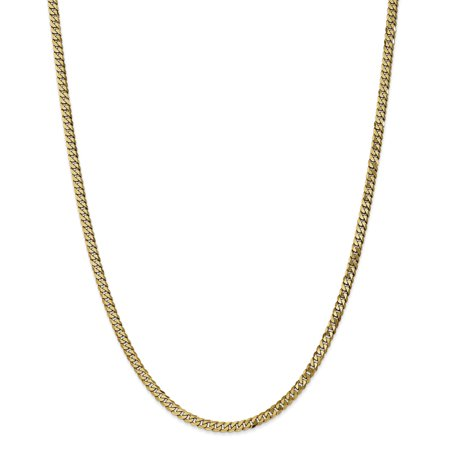 14K Yellow Gold 3.9mm Beveled Curb Chain - image 5 of 5